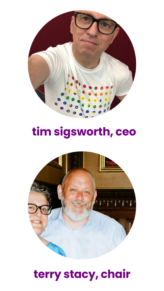 akt CEO Tim Sigsworth and Chair Terry Stacy
