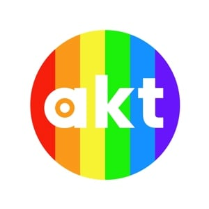 akt rainbow button badge (38mm)