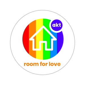 room for love laptop sticker (76mm)