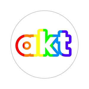 akt rainbow laptop sticker (76mm)