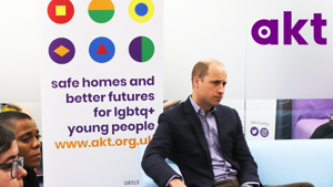 Duke Of Cambridge visits akt